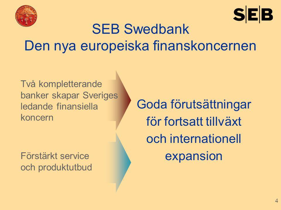 SEB Swedbank Den nya europeiska finanskoncernen