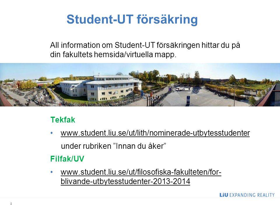 Student-UT försäkring