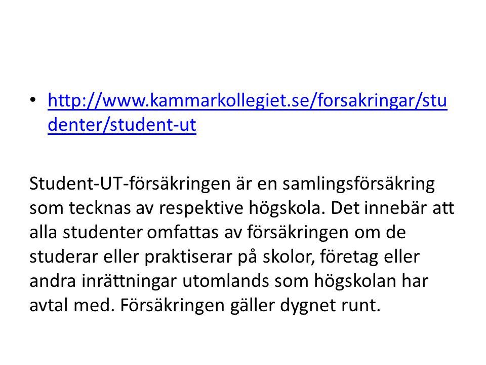 http://www.kammarkollegiet.se/forsakringar/studenter/student-ut
