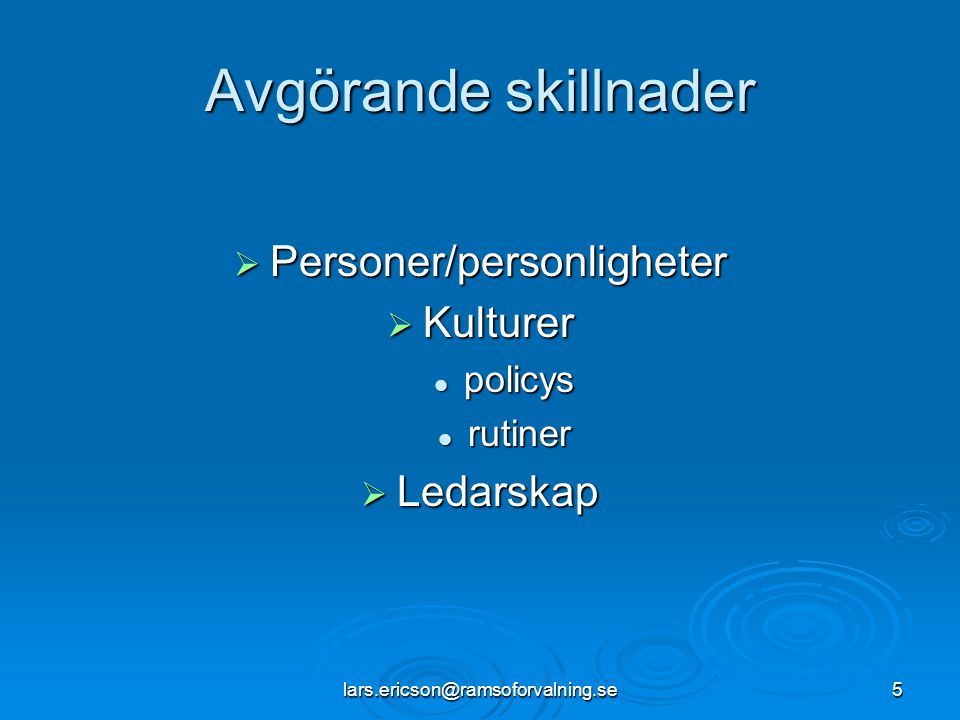 Personer/personligheter