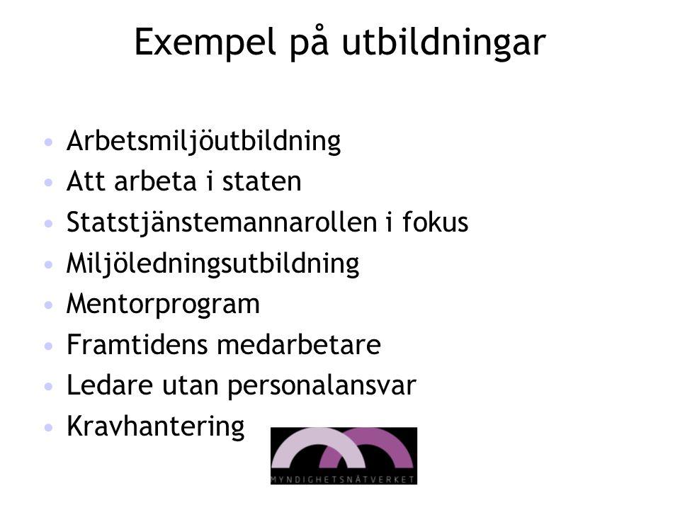 Exempel på utbildningar