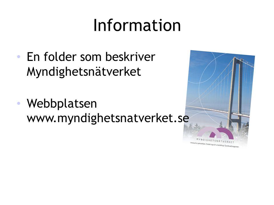 Information En folder som beskriver Myndighetsnätverket