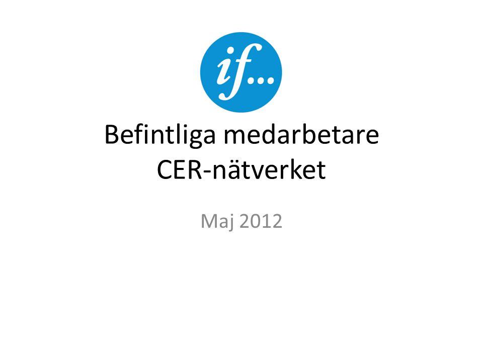Befintliga medarbetare CER-nätverket