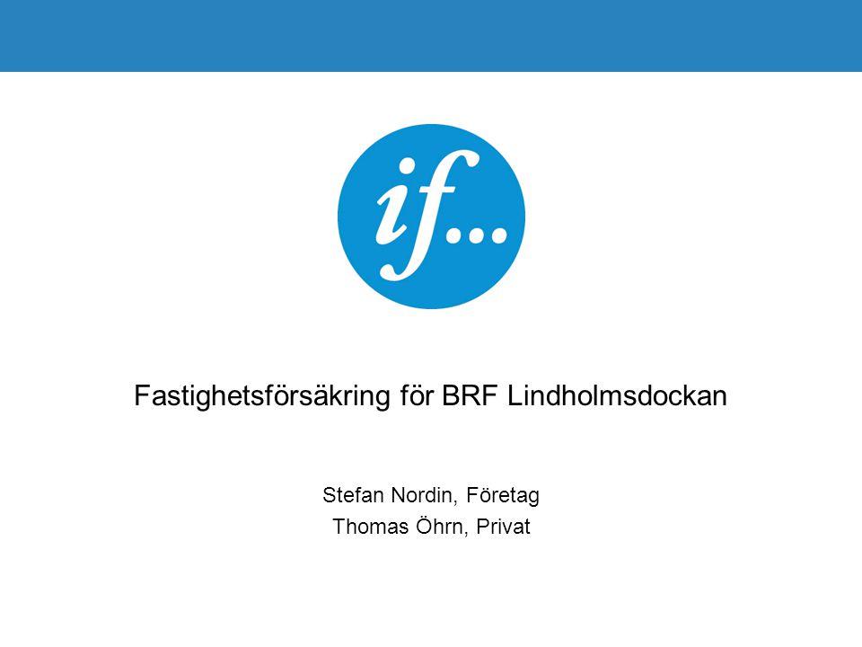 Fastighetsförsäkring för BRF Lindholmsdockan