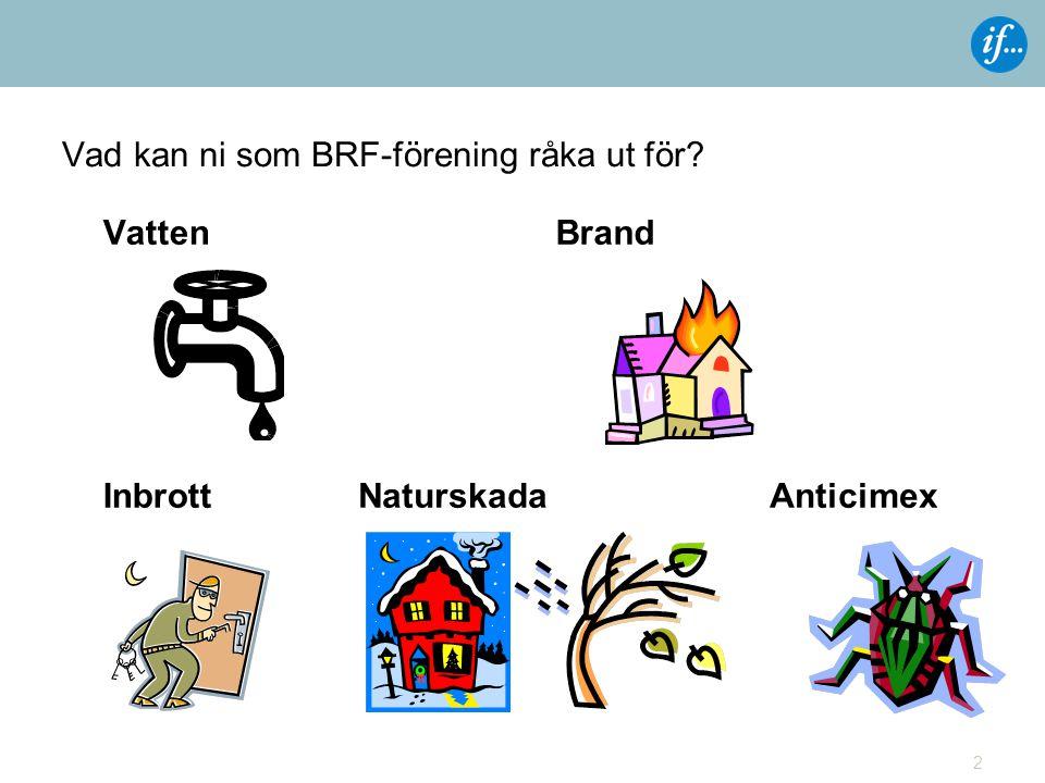 Vad kan ni som BRF-förening råka ut för