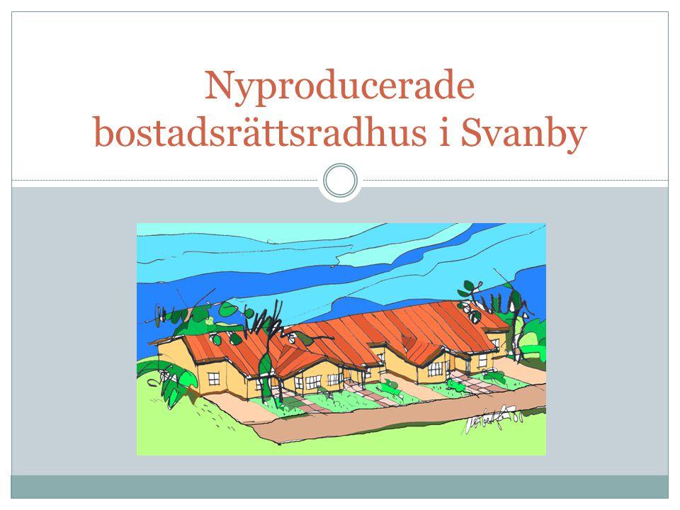 Nyproducerade bostadsrättsradhus i Svanby