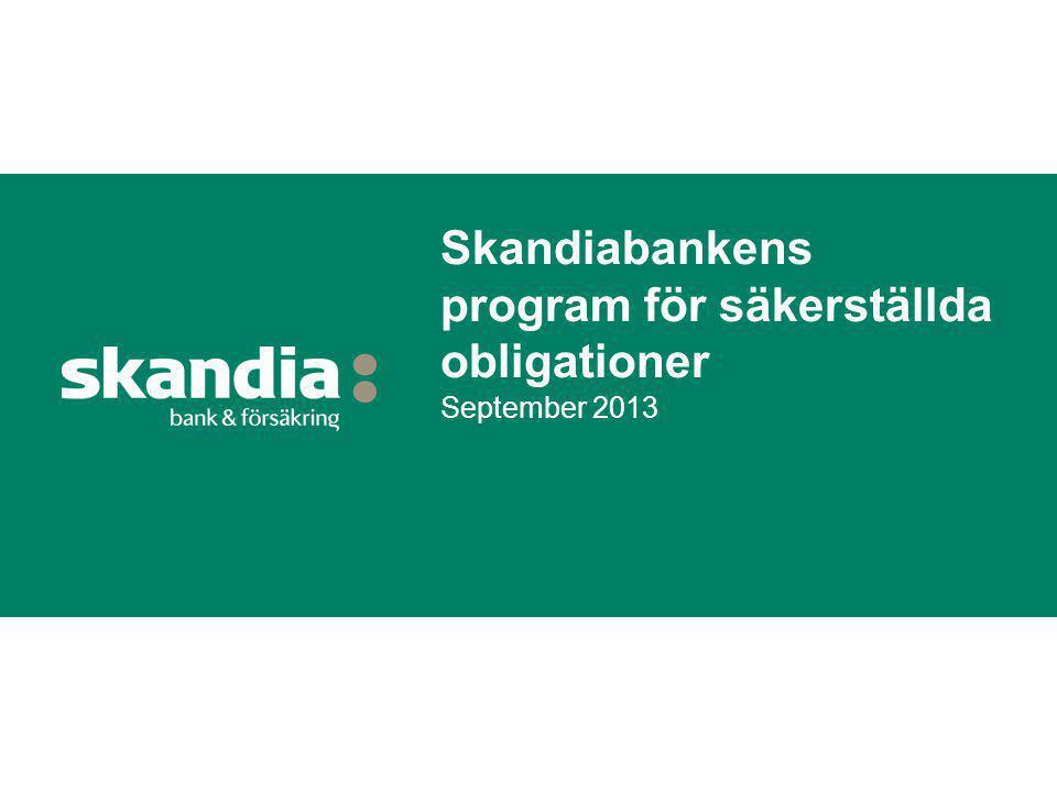 Skandiabankens program för säkerställda obligationer