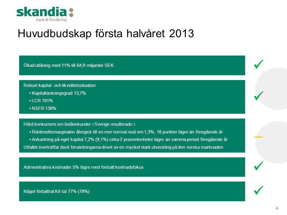 Huvudbudskap första halvåret 2013
