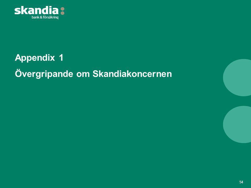 Appendix 1 Övergripande om Skandiakoncernen