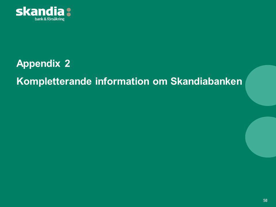 Appendix 2 Kompletterande information om Skandiabanken