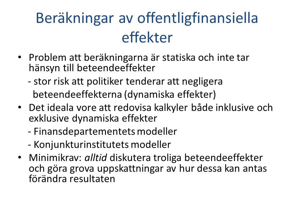Beräkningar av offentligfinansiella effekter