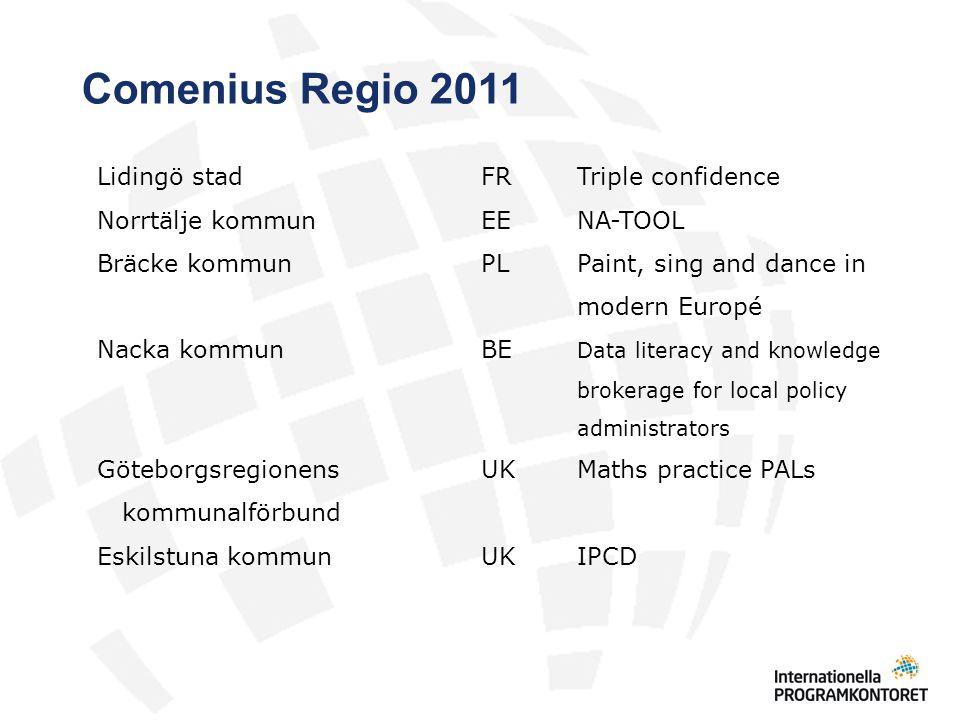 Comenius Regio 2011 Lidingö stad FR Triple confidence