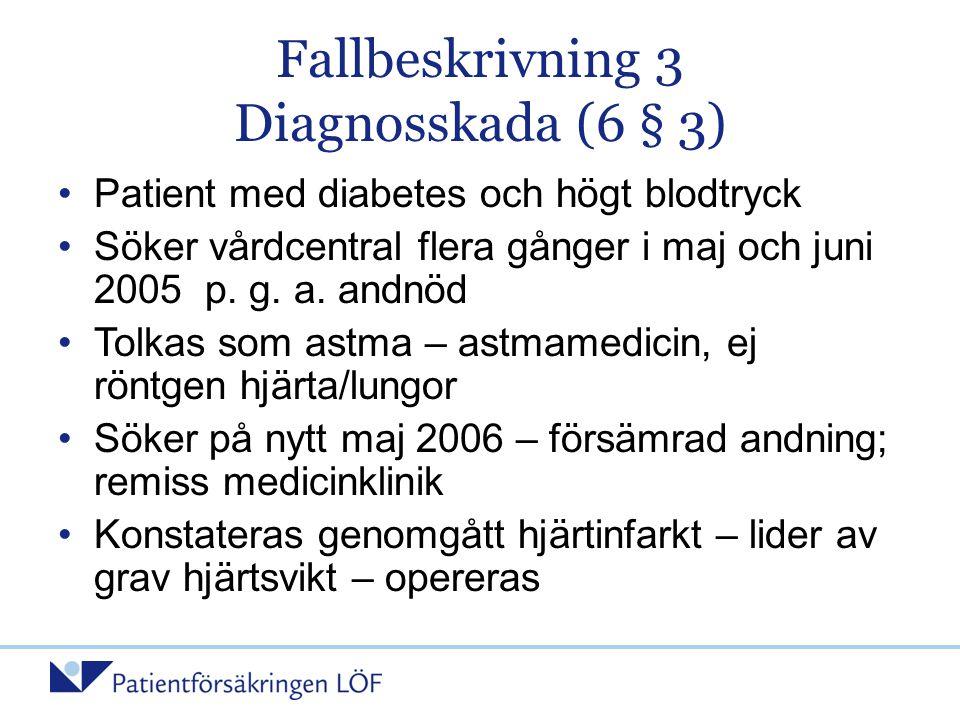 Fallbeskrivning 3 Diagnosskada (6 § 3)