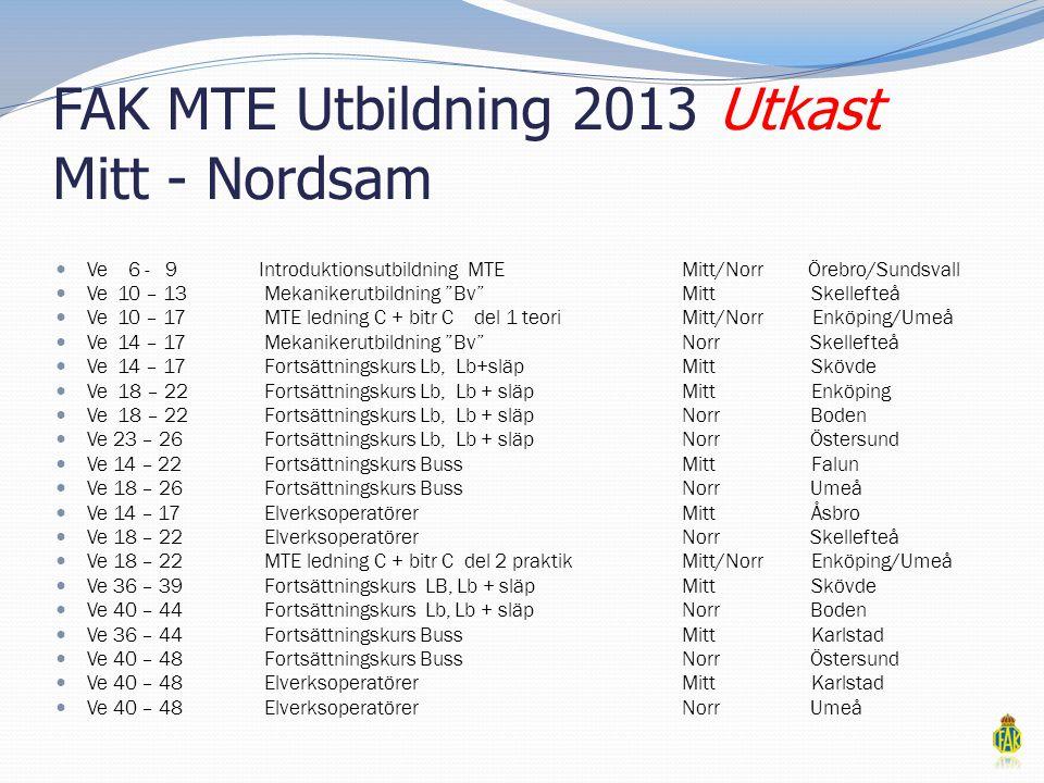 FAK MTE Utbildning 2013 Utkast Mitt - Nordsam