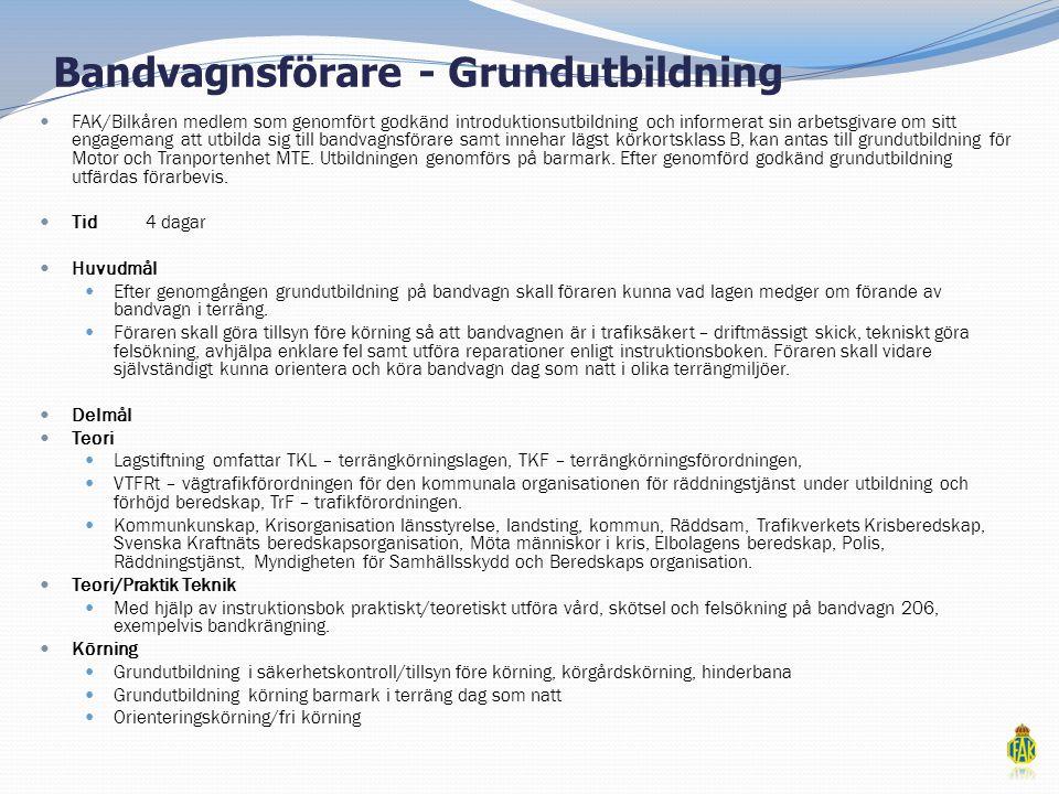 Bandvagnsförare - Grundutbildning