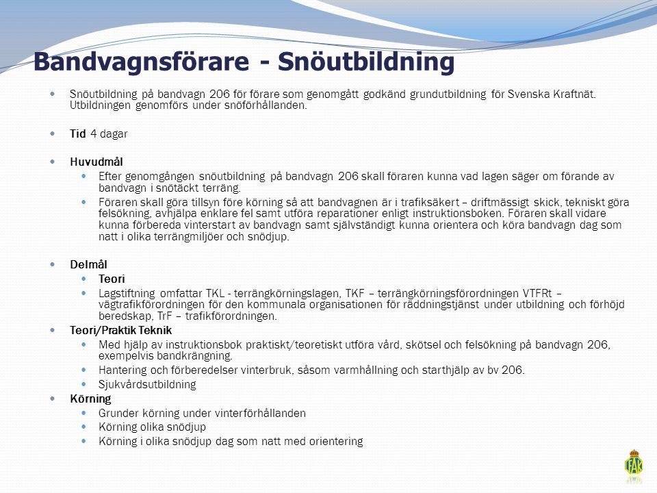 Bandvagnsförare - Snöutbildning