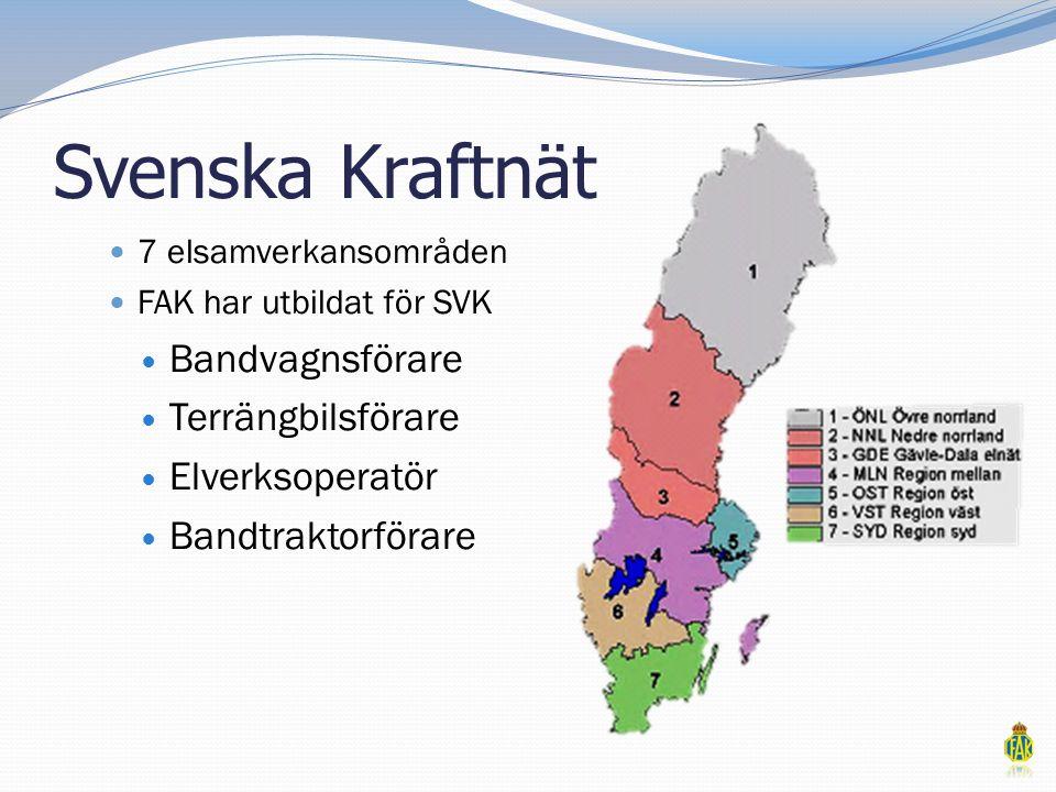 Svenska Kraftnät Bandvagnsförare Terrängbilsförare Elverksoperatör