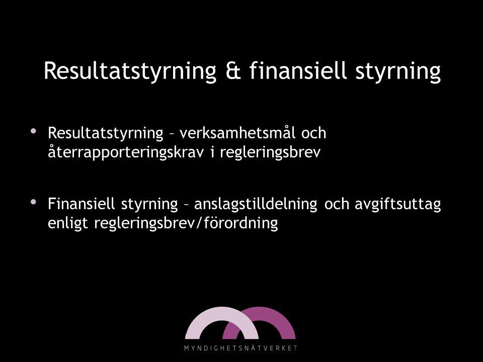 Resultatstyrning & finansiell styrning