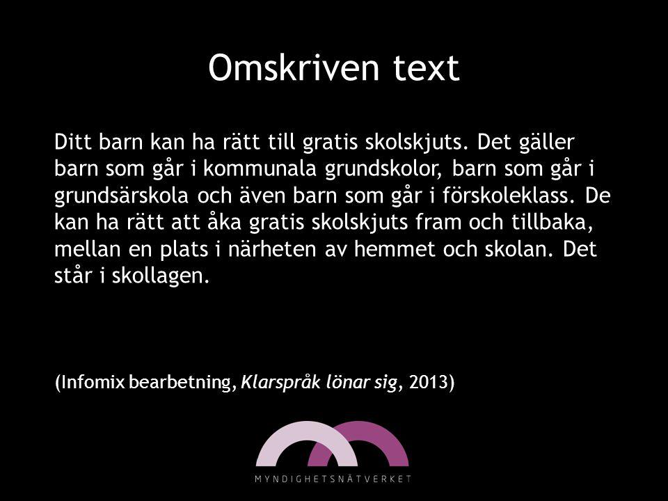 Omskriven text