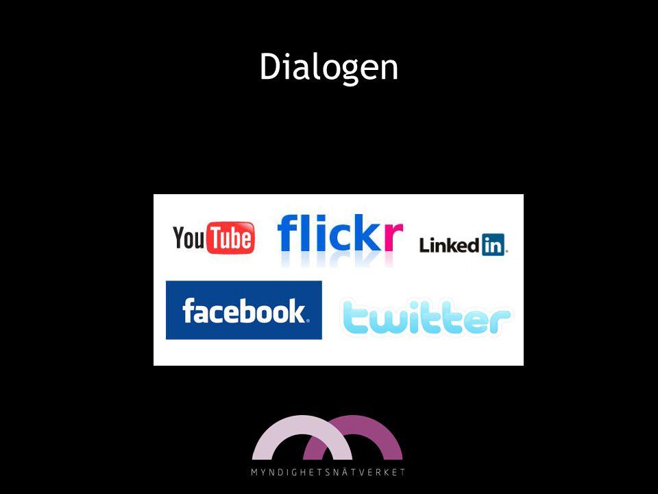 Dialogen Användandet av sociala medier har exploderat.