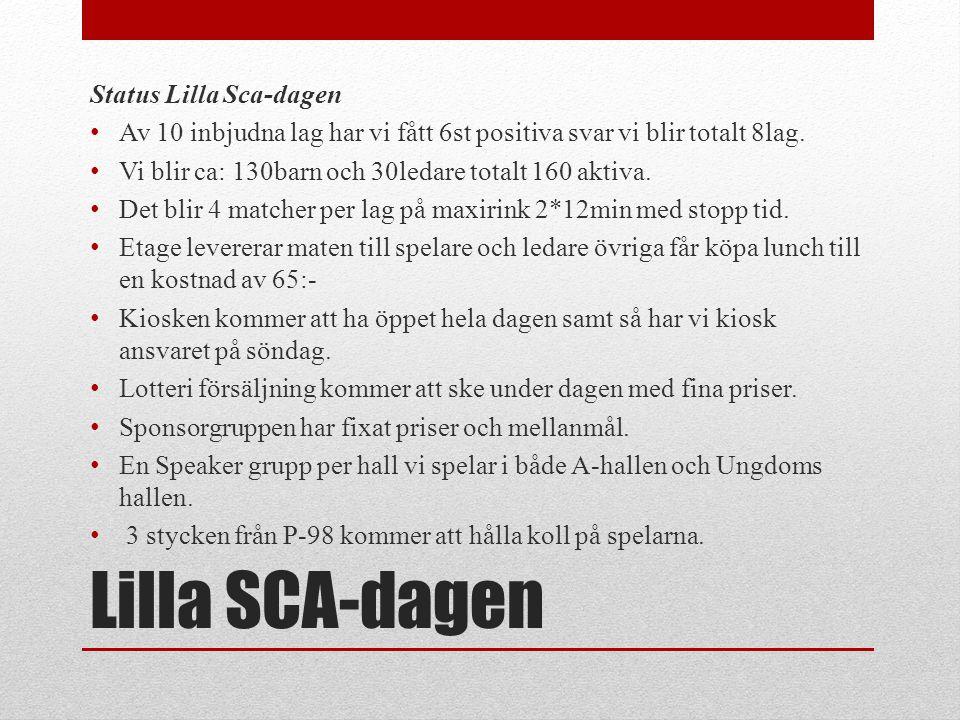 Lilla SCA-dagen Status Lilla Sca-dagen