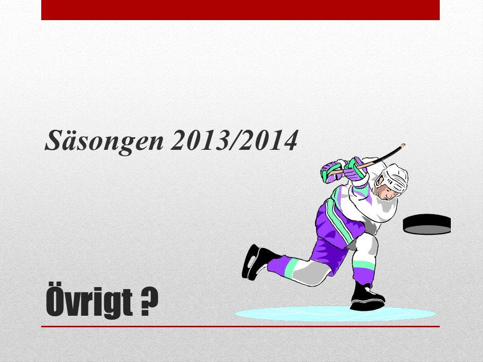 Säsongen 2013/2014 Övrigt