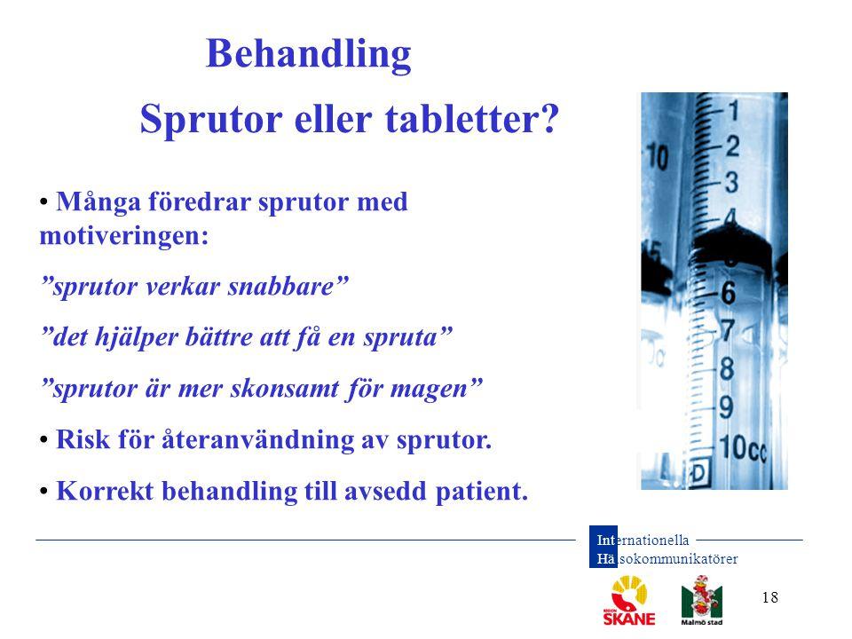 Sprutor eller tabletter