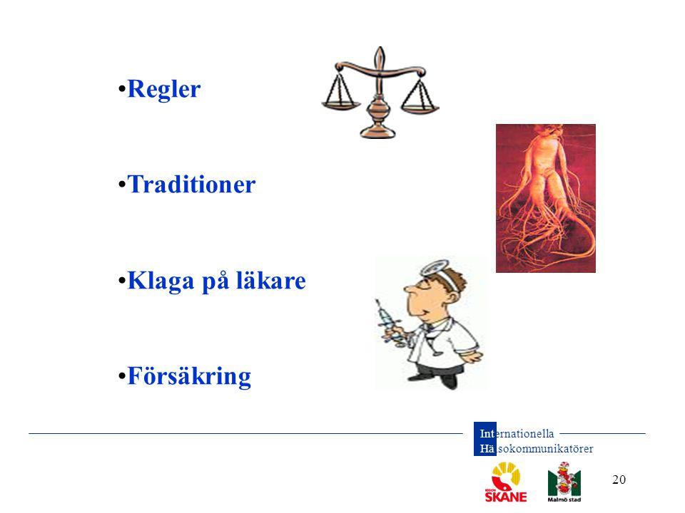 Regler Traditioner Klaga på läkare Försäkring Regler: