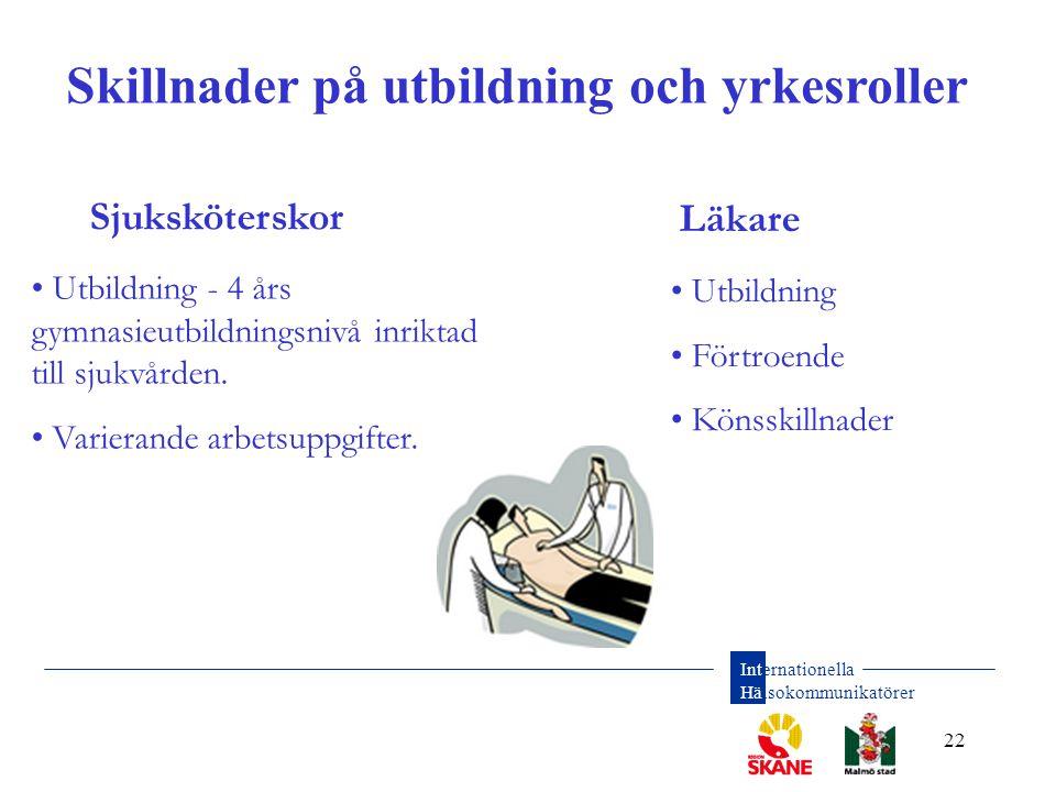 Skillnader på utbildning och yrkesroller