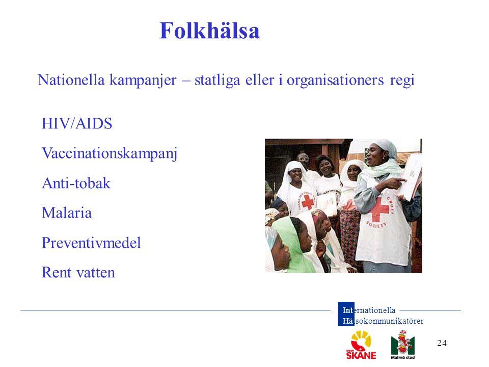 Folkhälsa Nationella kampanjer – statliga eller i organisationers regi