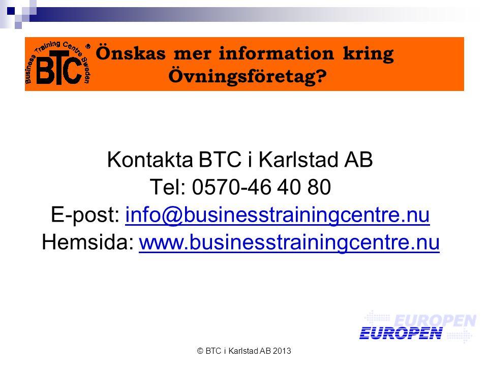 Önskas mer information kring Övningsföretag