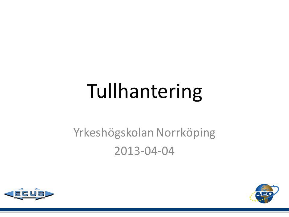 Yrkeshögskolan Norrköping 2013-04-04