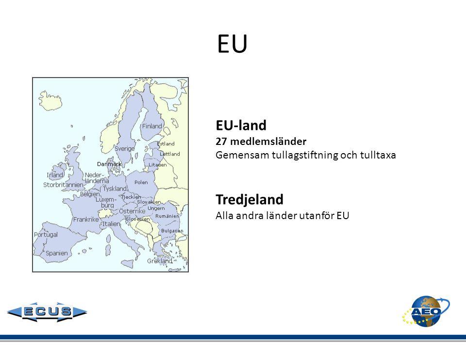EU EU-land Tredjeland 27 medlemsländer