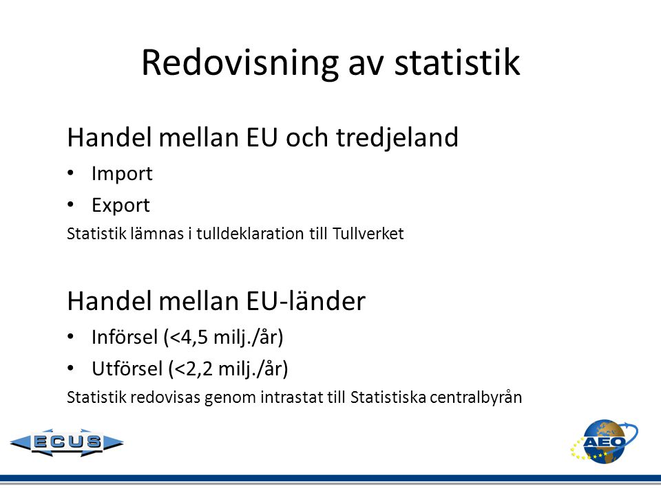 Redovisning av statistik