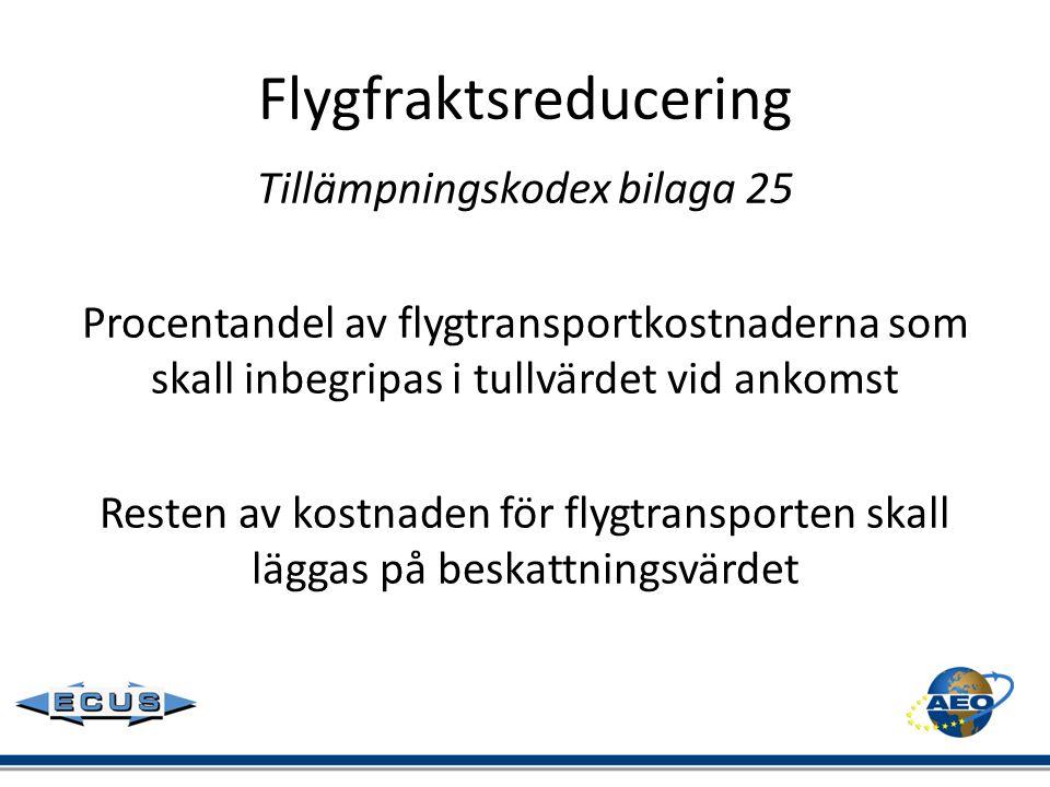 Flygfraktsreducering