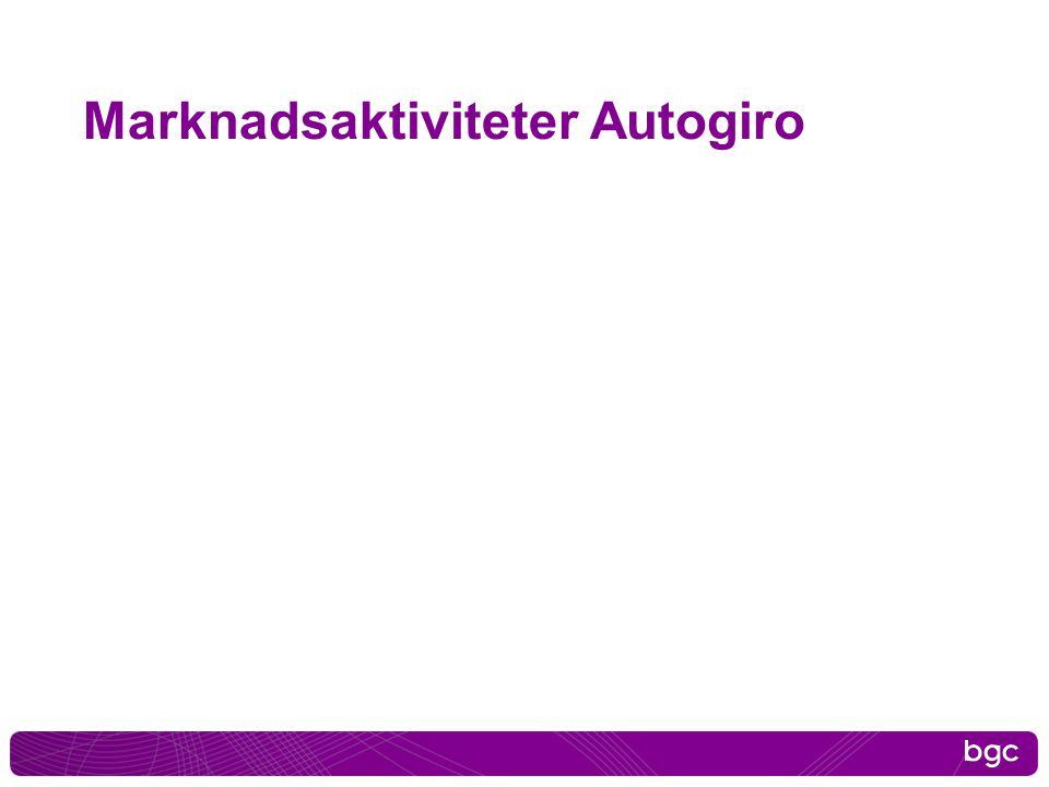 Marknadsaktiviteter Autogiro