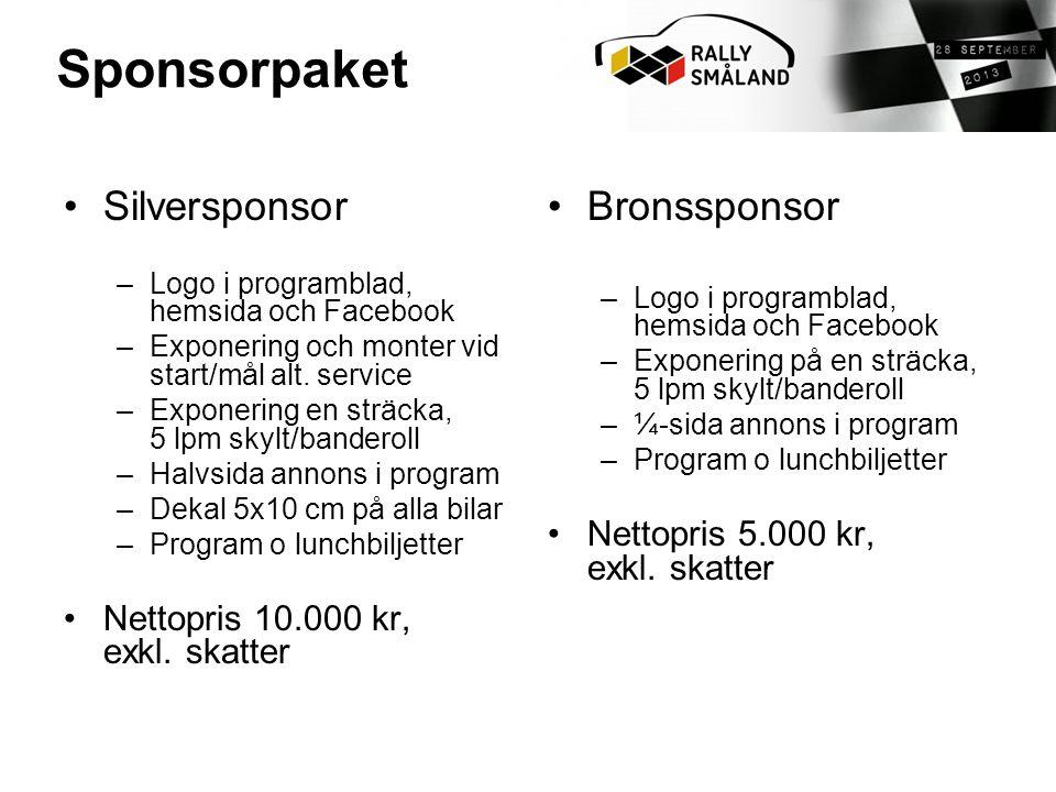 Sponsorpaket Silversponsor Bronssponsor