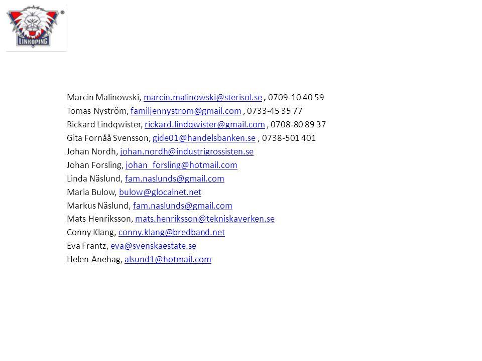 Marcin Malinowski, marcin.malinowski@sterisol.se , 0709-10 40 59