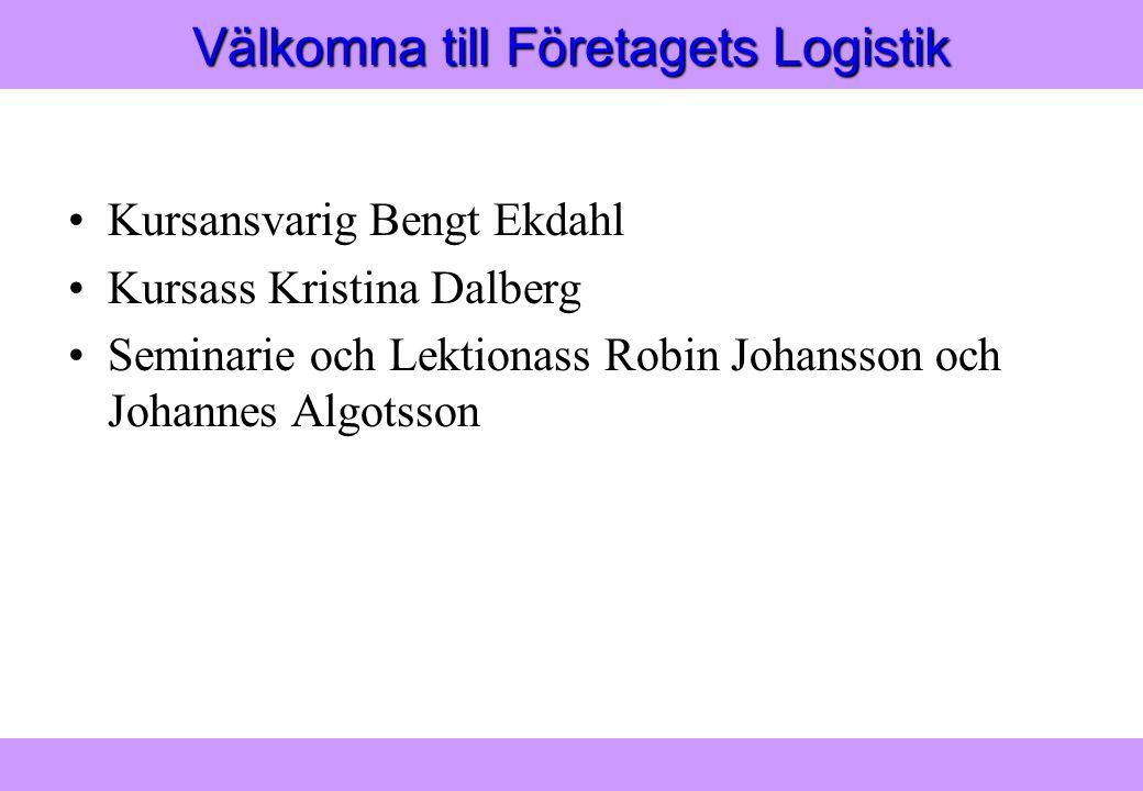 Välkomna till Företagets Logistik