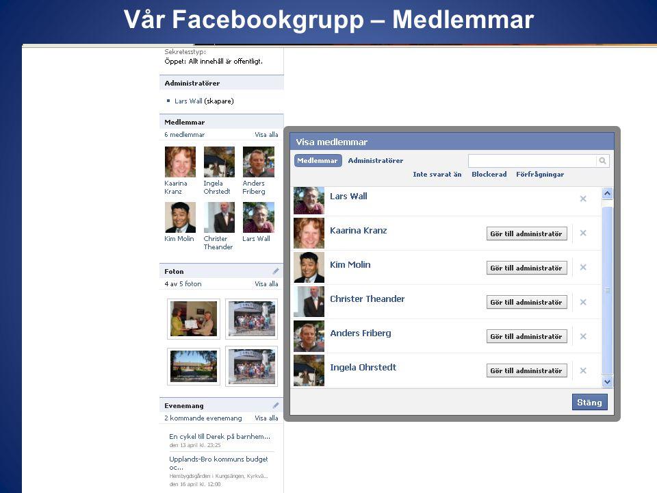 Vår Facebookgrupp – Medlemmar