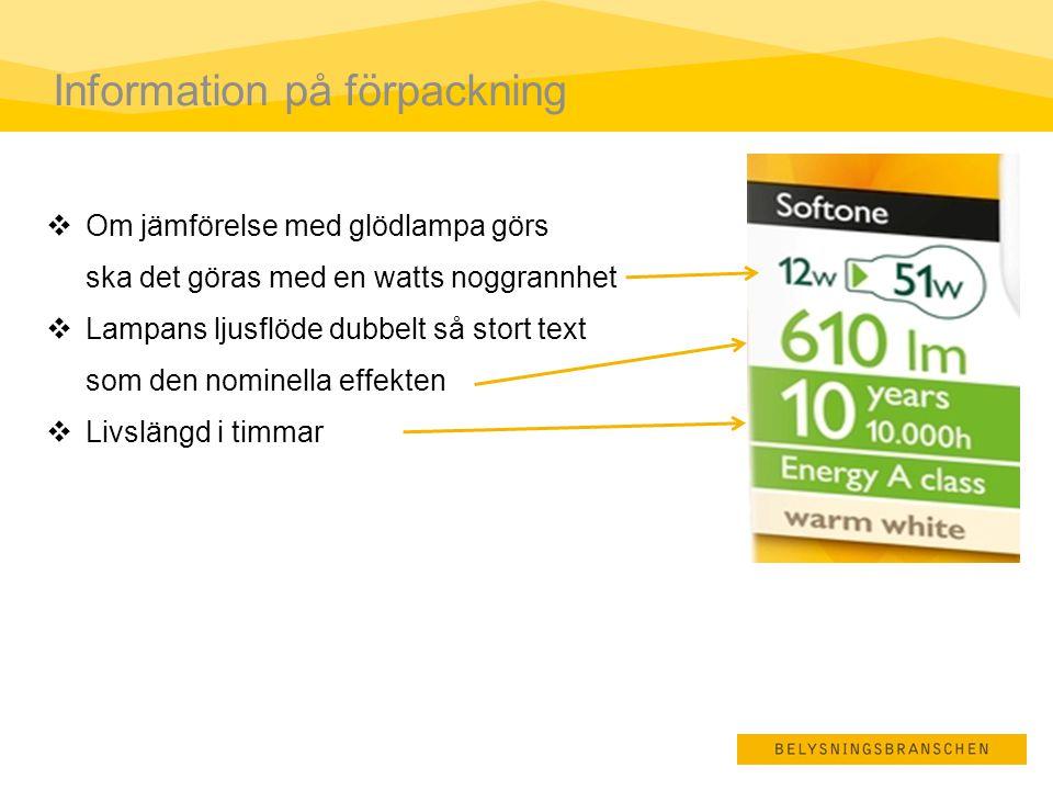 Information på förpackning