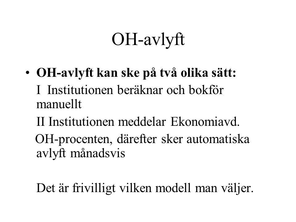 OH-avlyft OH-avlyft kan ske på två olika sätt: