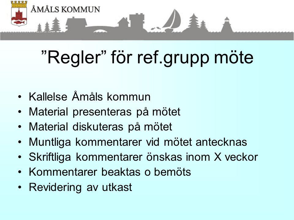 Regler för ref.grupp möte