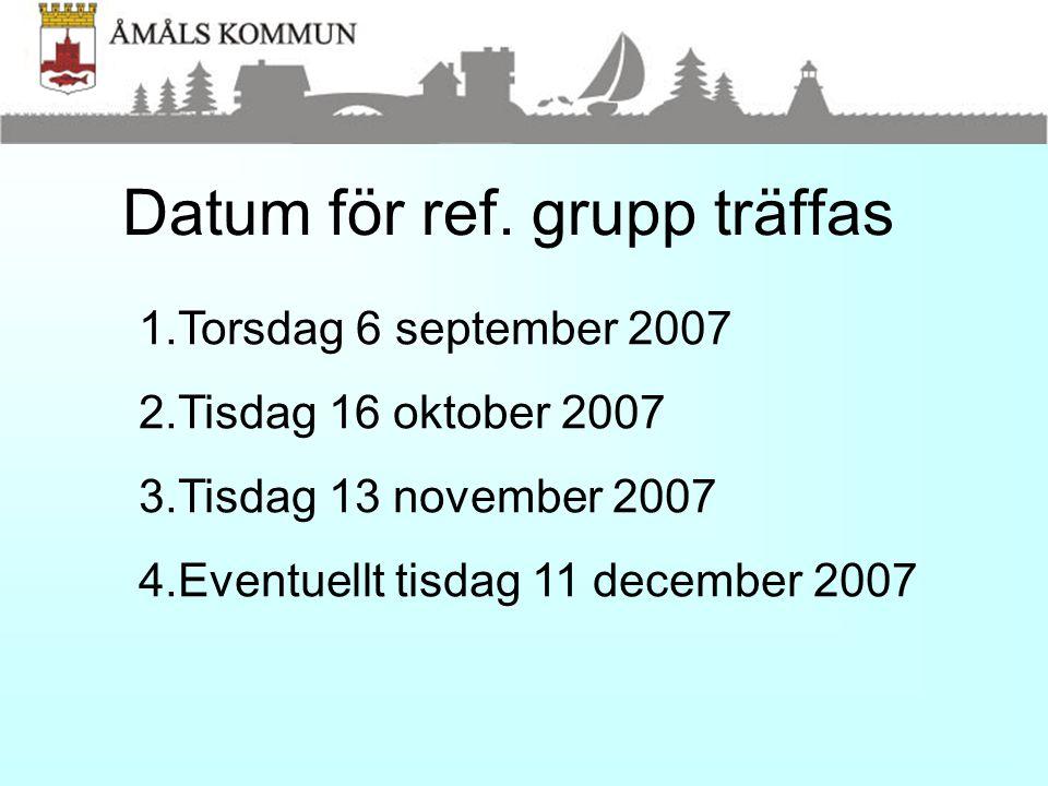 Datum för ref. grupp träffas