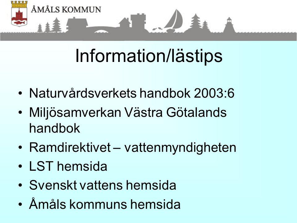 Information/lästips Naturvårdsverkets handbok 2003:6