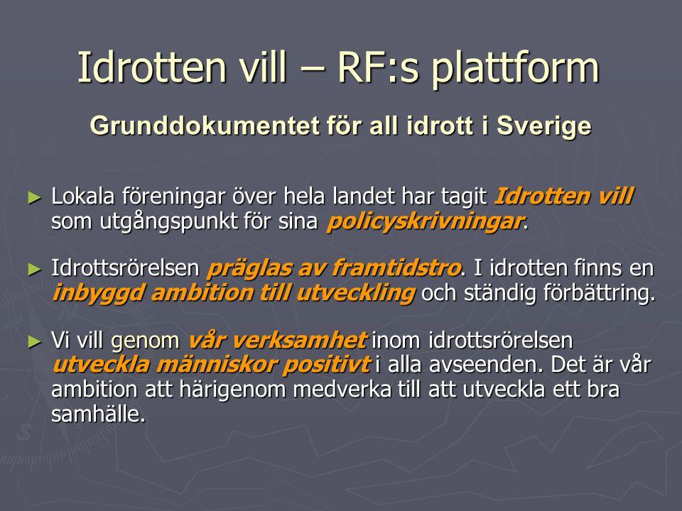Idrotten vill – RF:s plattform