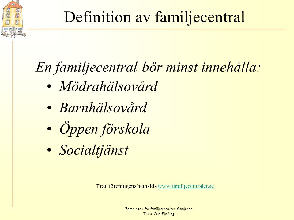 Definition av familjecentral