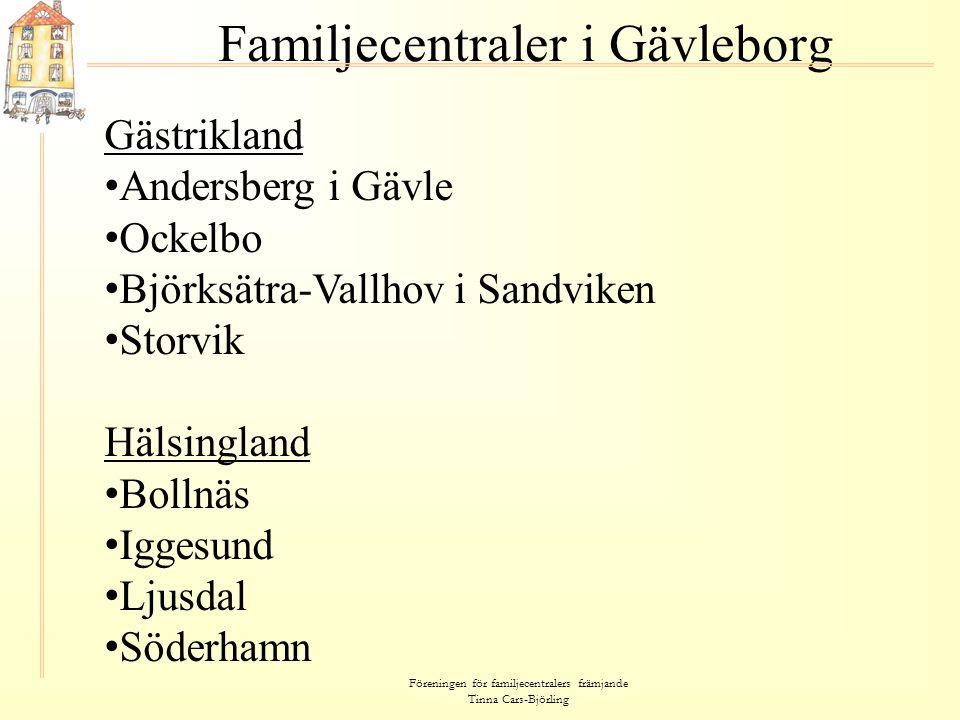 Familjecentraler i Gävleborg