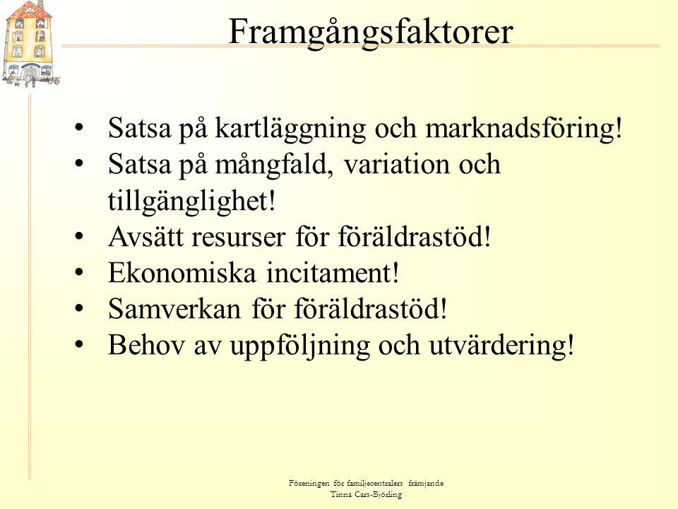 Föreningen för familjecentralers främjande Tinna Cars-Björling