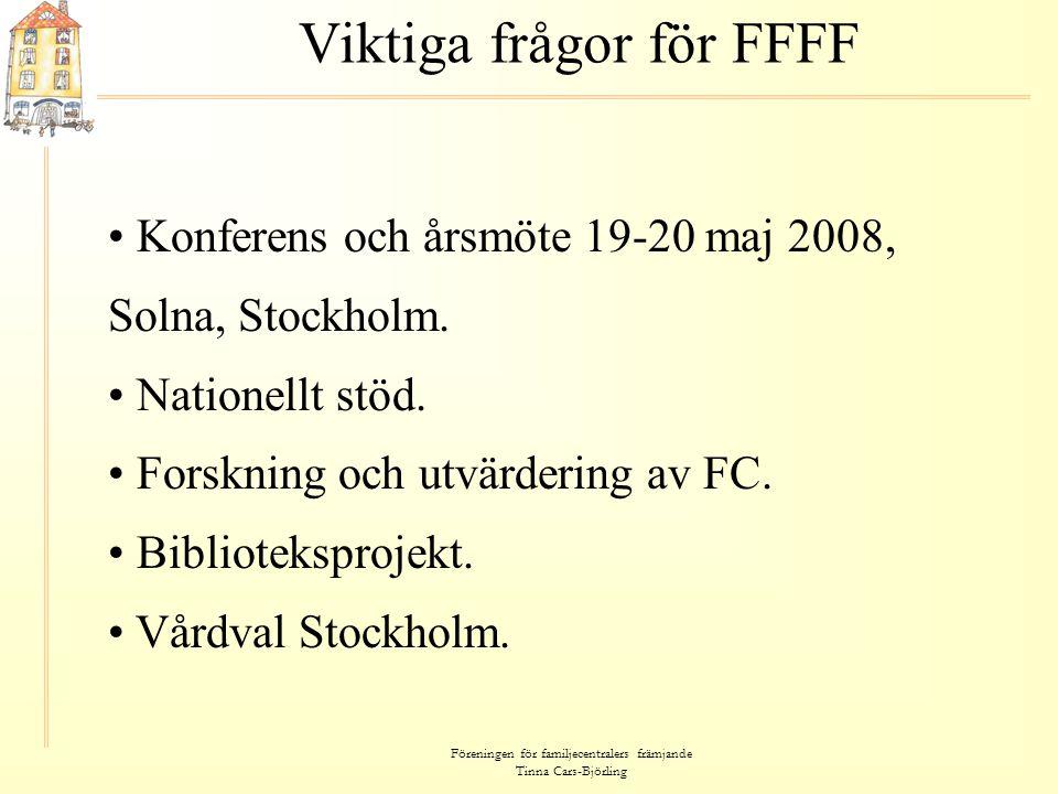 Viktiga frågor för FFFF